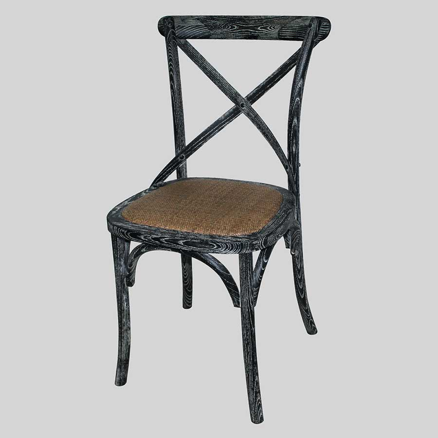 Monique Cross Back Chair - Black