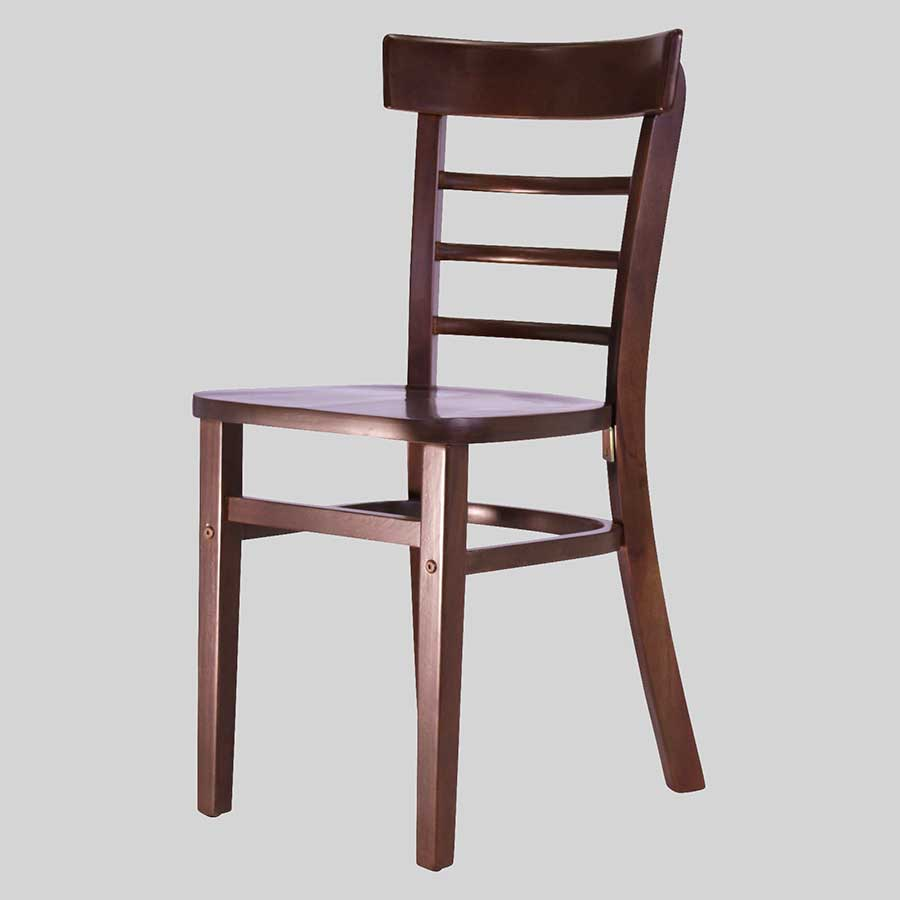 Sheridan Wooden Chair - Chocolate