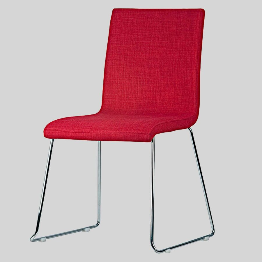 Sofia Upholstered Chairs - Red