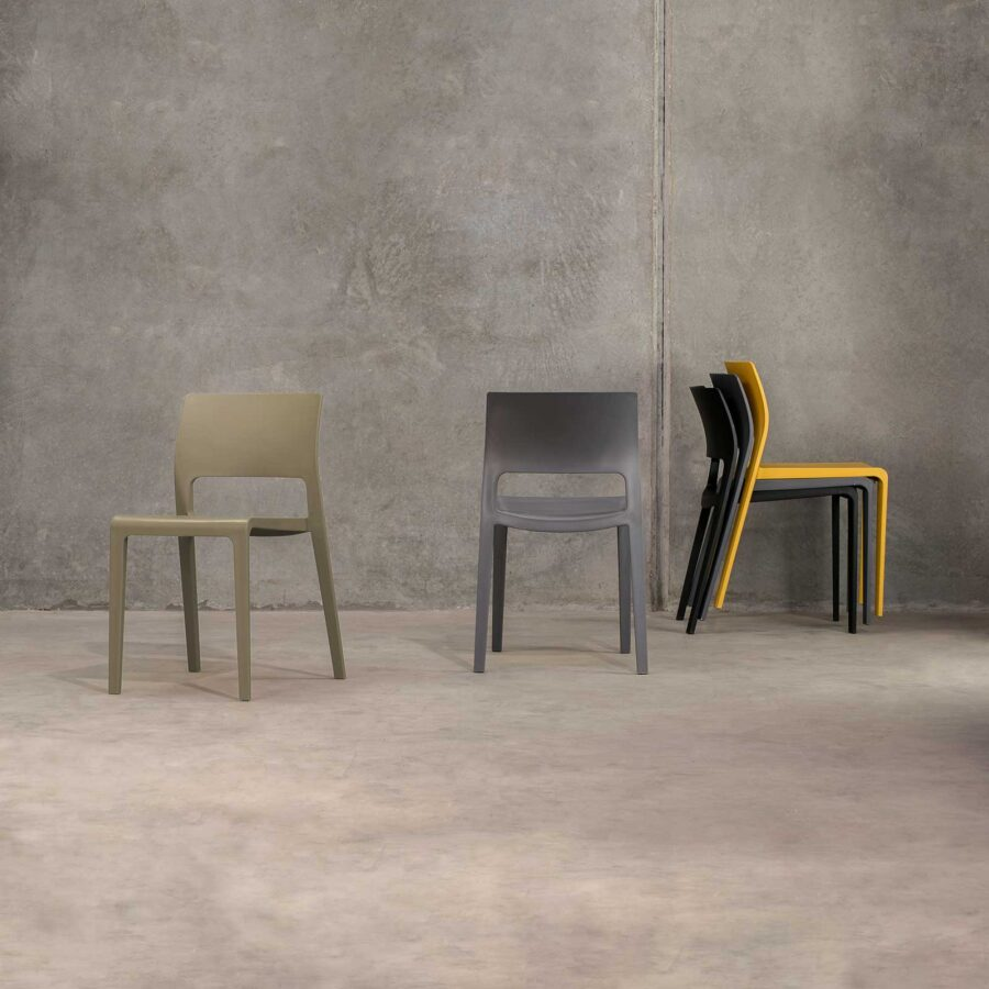 Sorrento Chair - Khaki, Anthracite, Mustard, and Black
