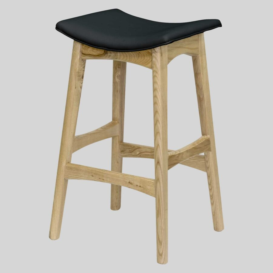 Alex Counter Stool - Natural/Black