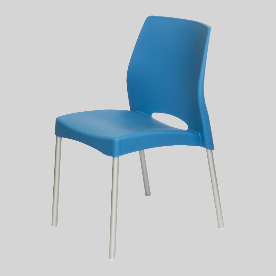 Apollo Australian Cafe Chairs - Blue - Front Side