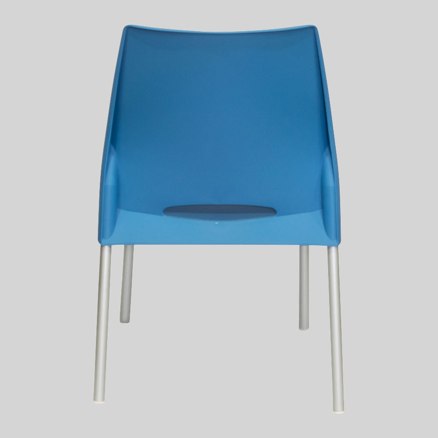 Apollo Australian Cafe Chairs - Blue - Back