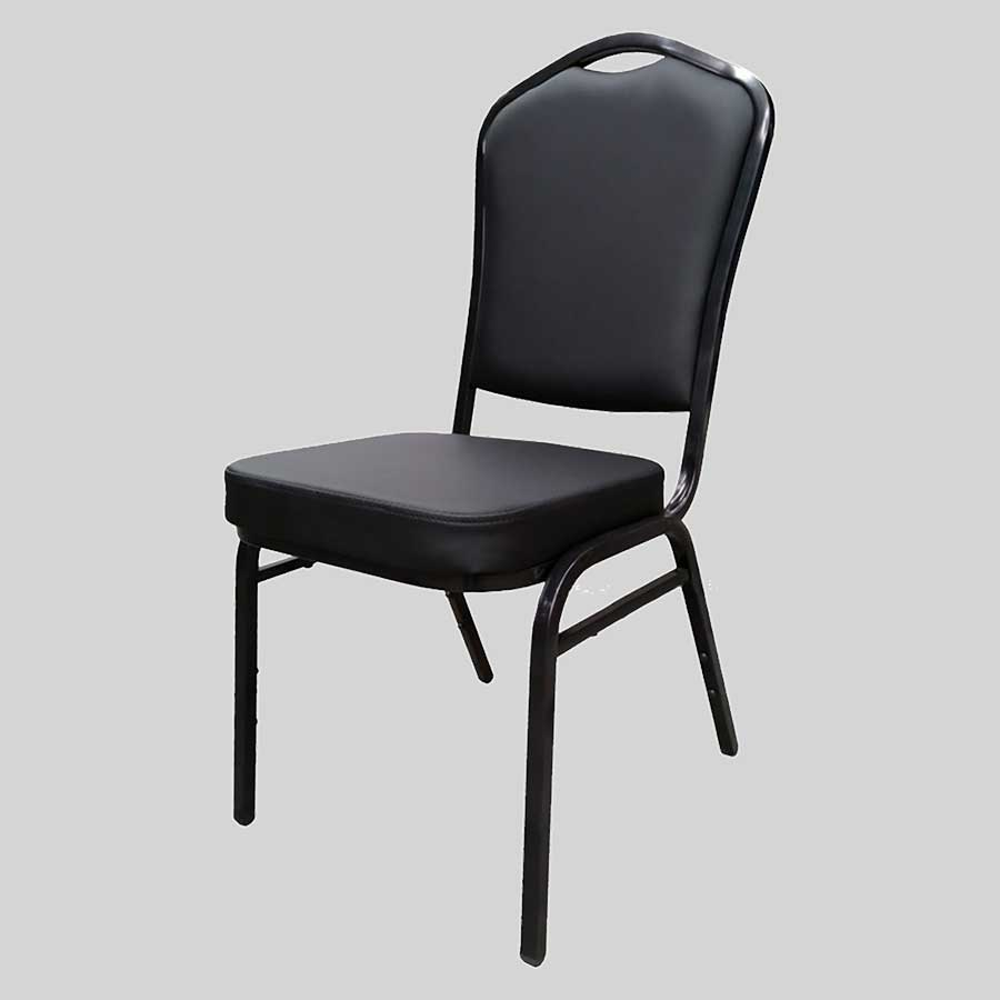 Bradman banquet chairs - Black Vinyl