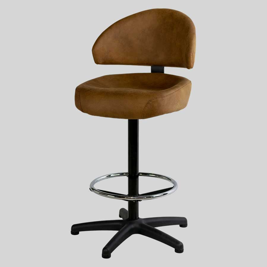 Canberra Black 5-Way Gaming Stool - Warwick Eastwood: Tan