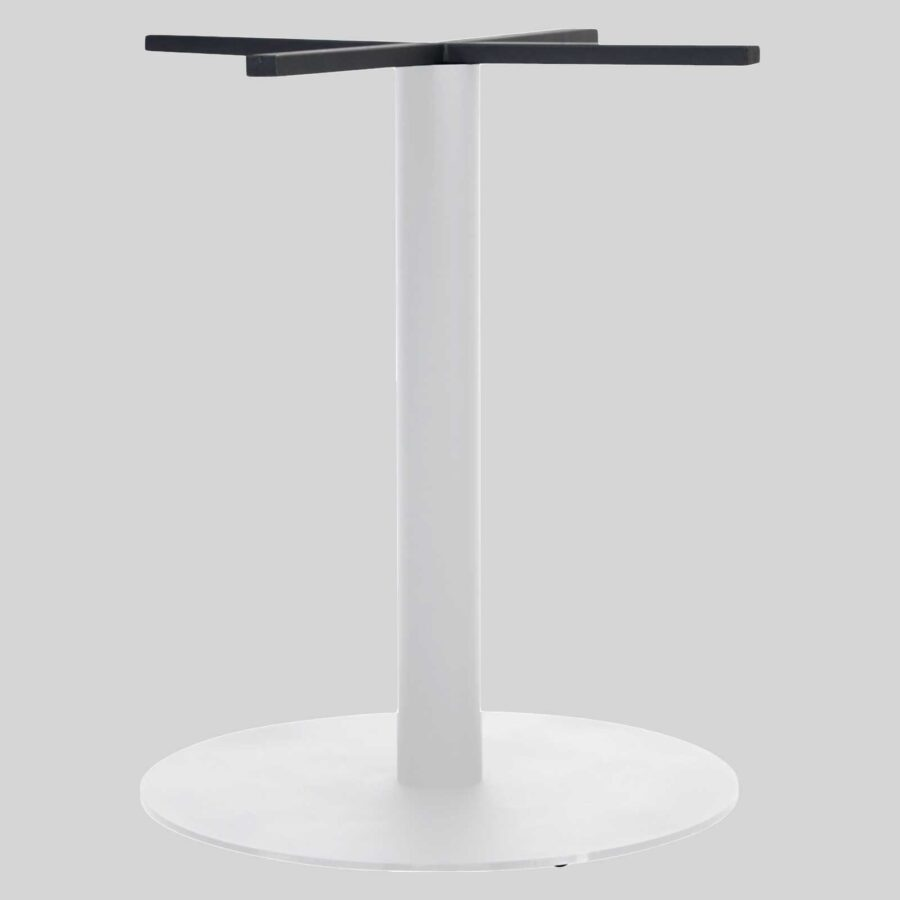 Carlton Round Commercial Table Base - White