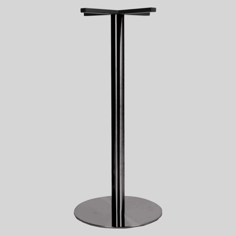 Carlton SS Round Table Base - Bar 50 - Black Chrome