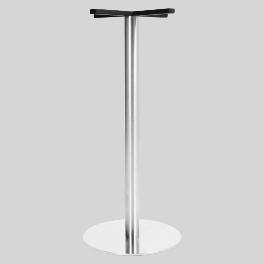Carlton SS Round Table Base - Bar 50 - Brushed Satin