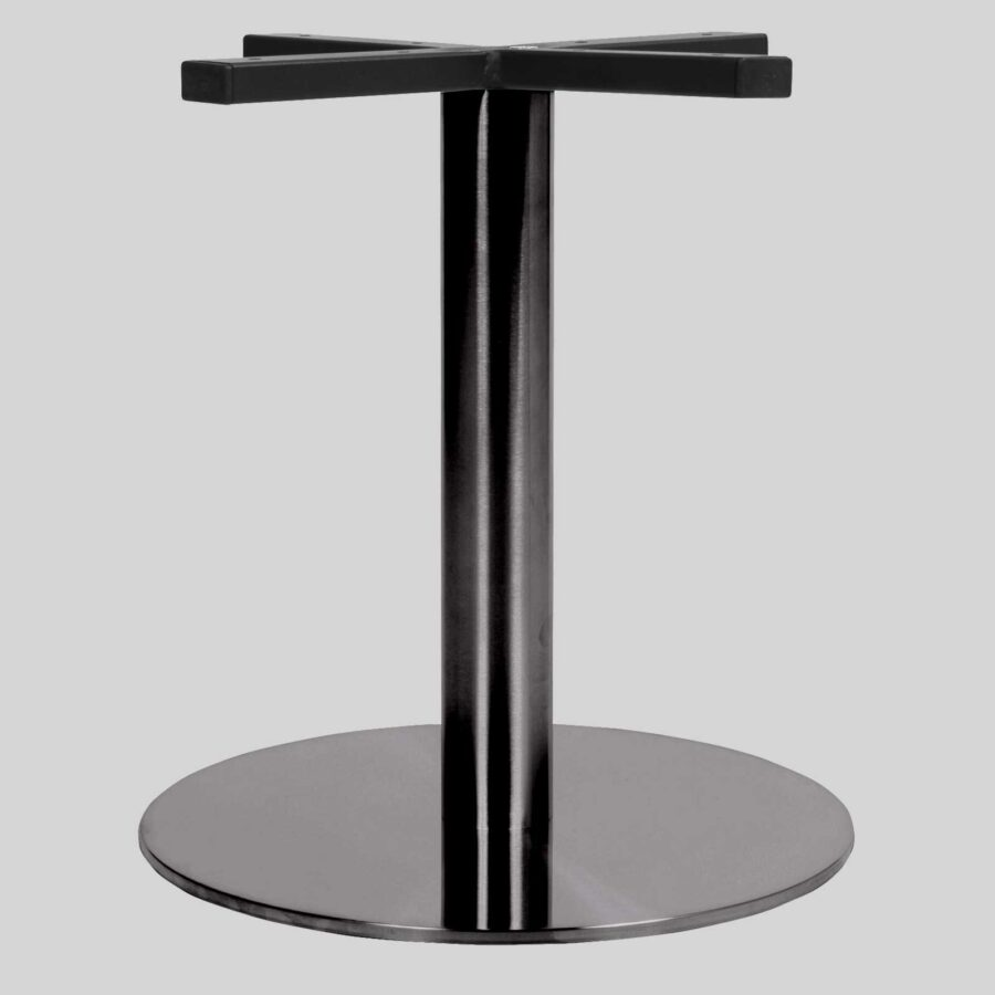 Carlton SS Round Table Base - Coffee 40 - Black Chrome