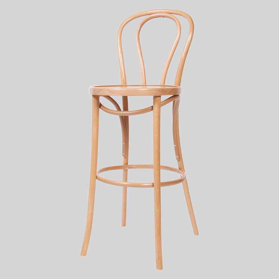 No 18 Bentwood Bar Stool by Fameg
