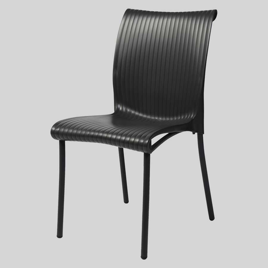 Cafe outdoor furniture: Dawson Side Chair - Anthracite
