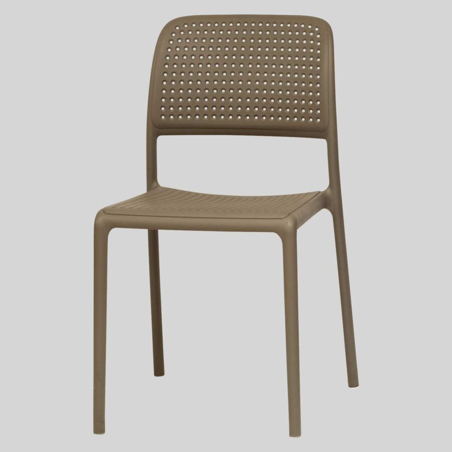 Dora Plastic Chairs - Taupe