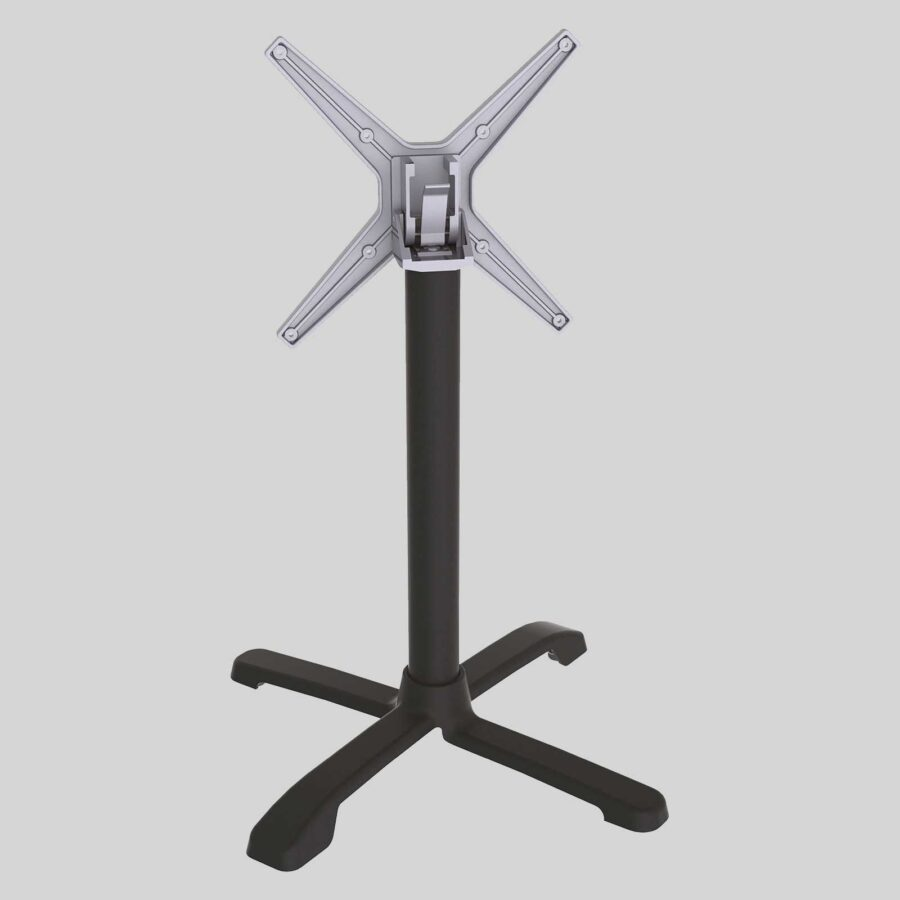 FLAT SX 26 Auto Adjust Table Base - Black - Side