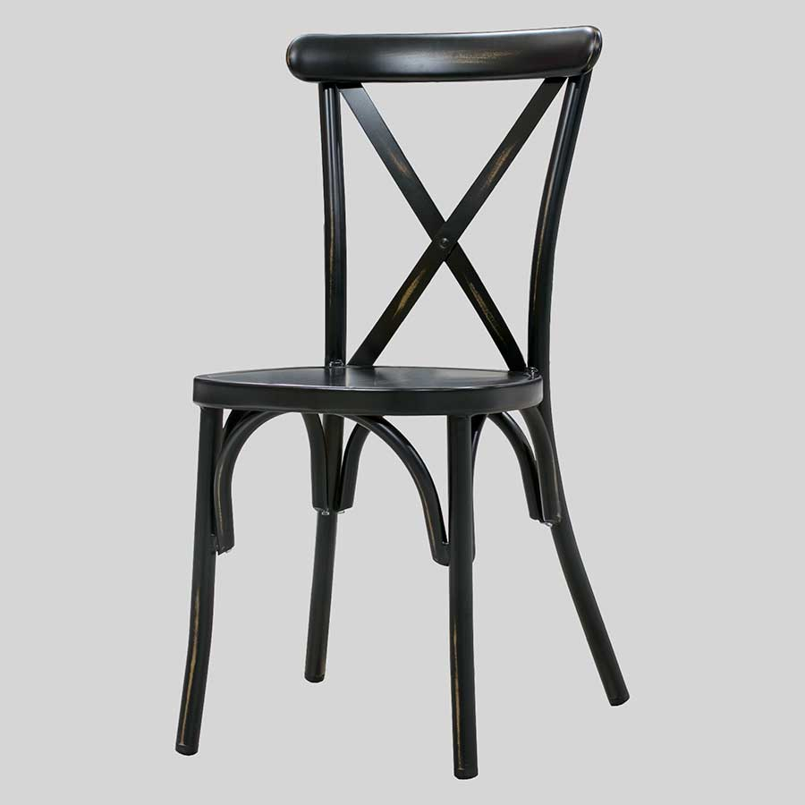 Florence outdoor dining chairs - Antique Black