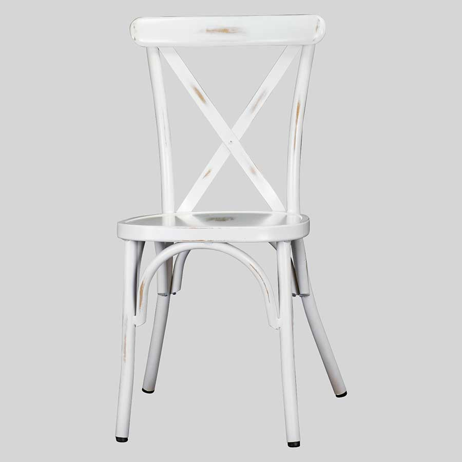 Florence outdoor dining chairs - Antique White