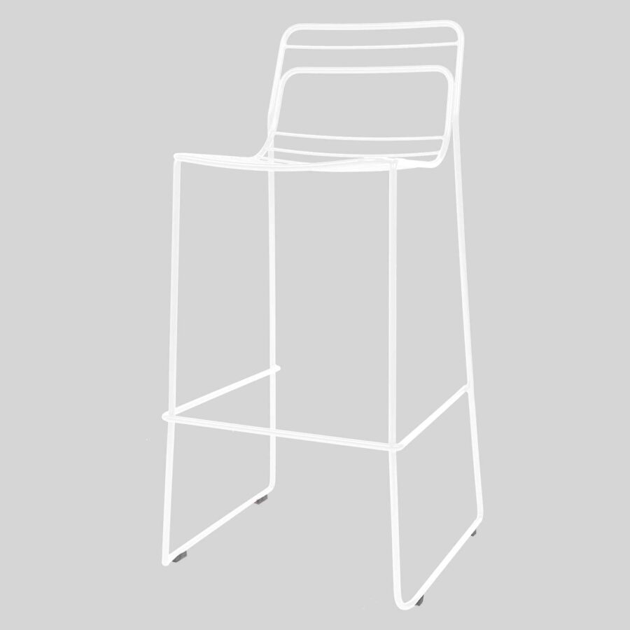 Gauge Bar Stool - White