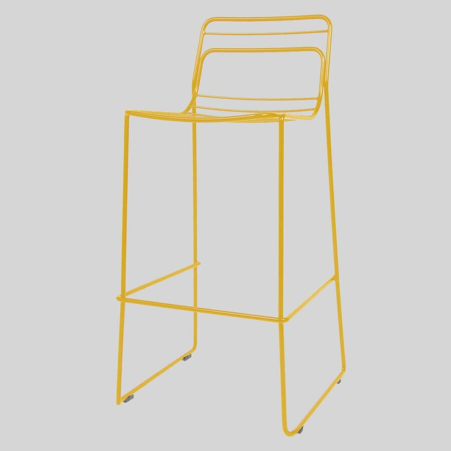 Gauge Bar Stool - Yellow