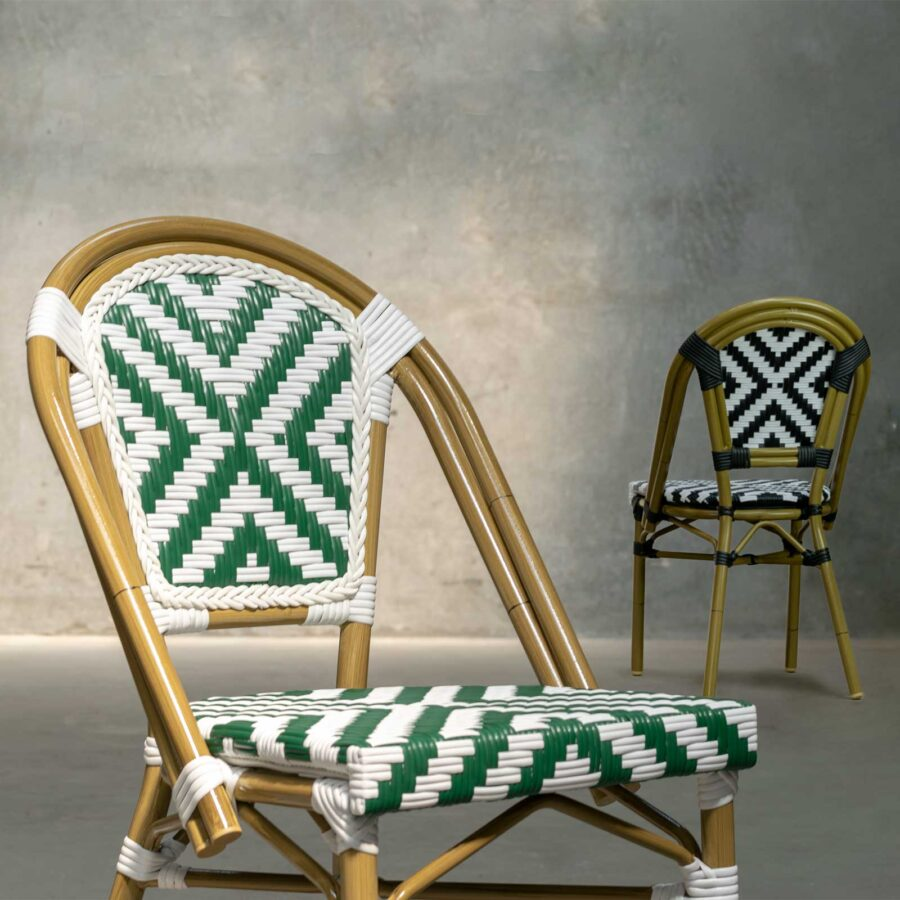 Jasmine French Dining Chairs - Cross Weave