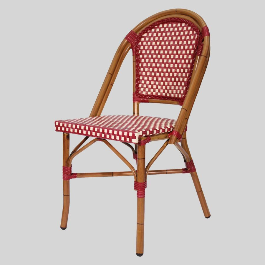 Jasmine French Dining Chairs - Red/Cream