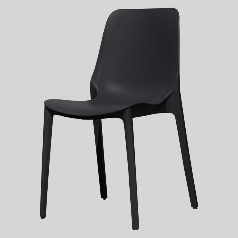 Jennifer cafe dining chairs - Anthracite