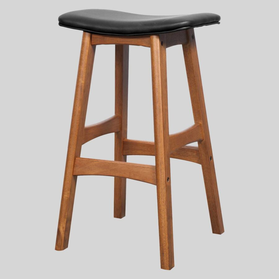 Magnum Counter Stool - Teak/Black