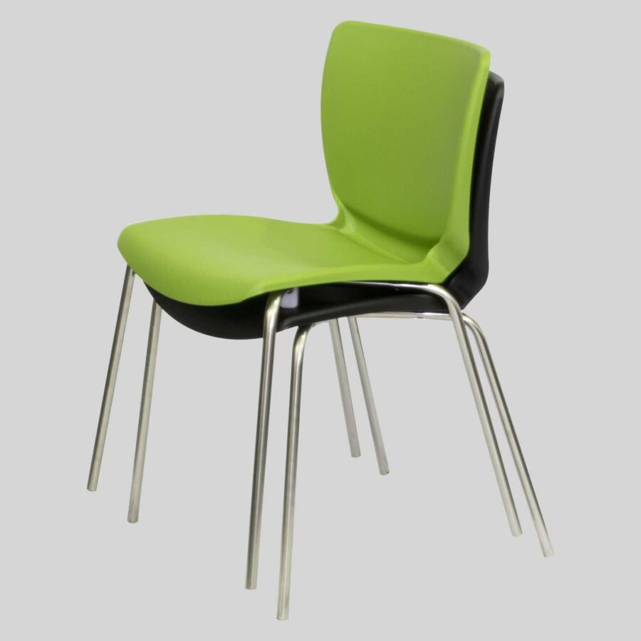 Metro commercial chairs - Avocado and Black