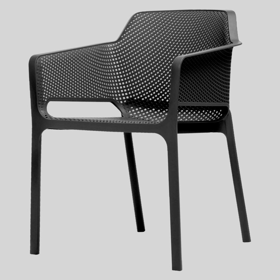 Mette Cafe Armchairs - Anthracite