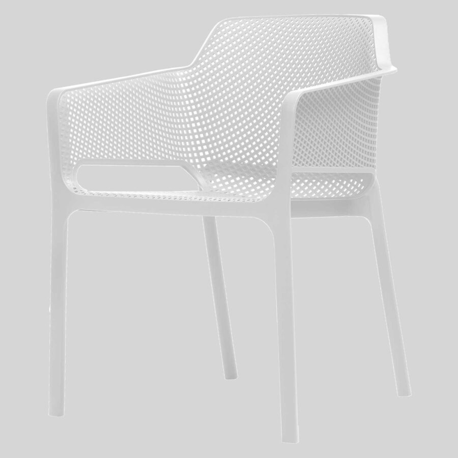 Mette Cafe Armchairs - White