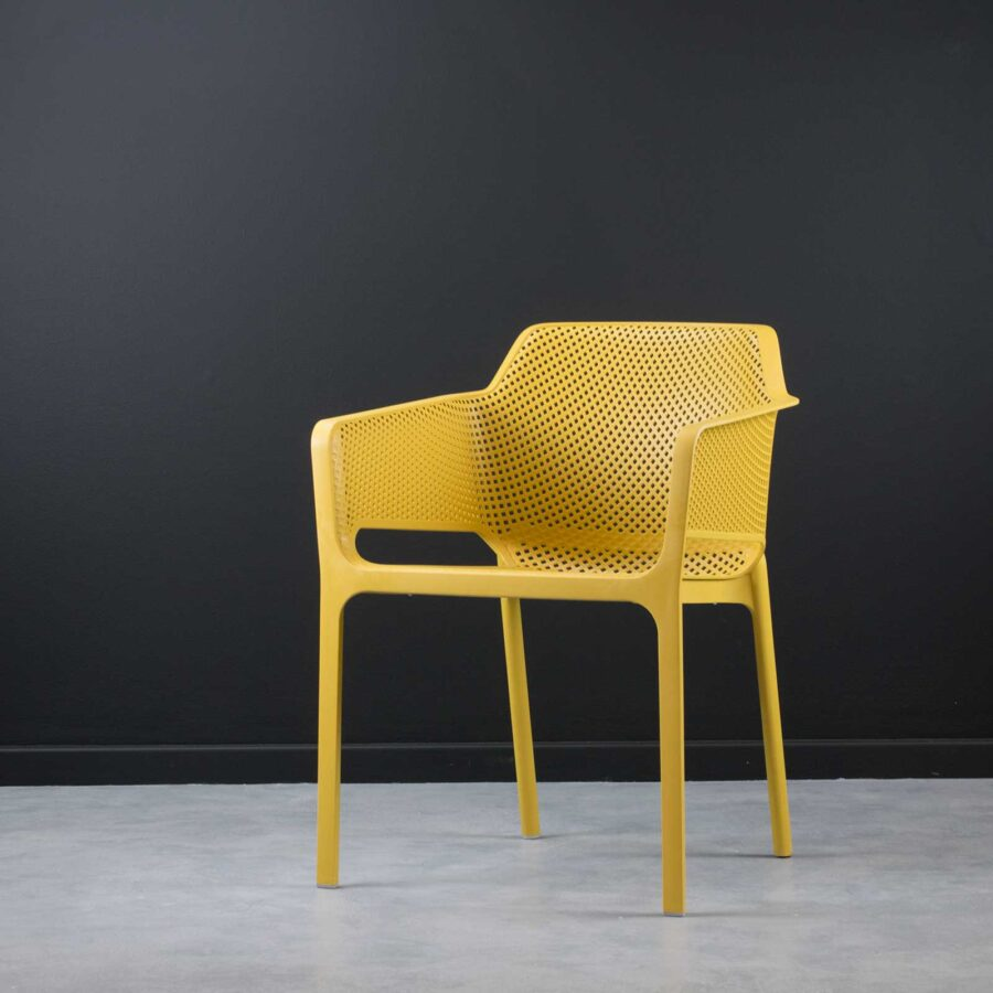 Mette Cafe Armchairs - Yellow