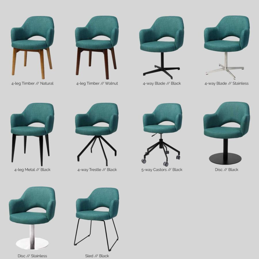 Mulberry Chair Base Options