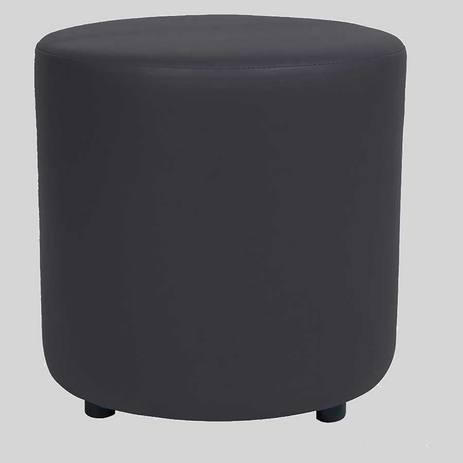 Ottoman Round - Charcoal