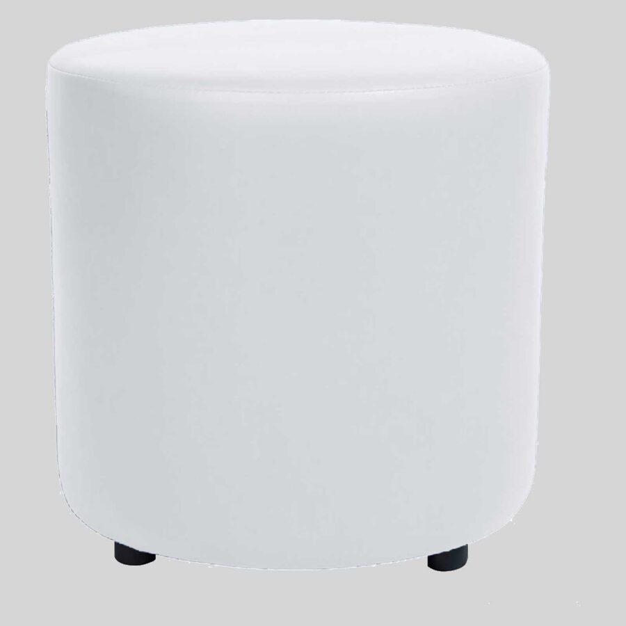 Ottoman Round - White