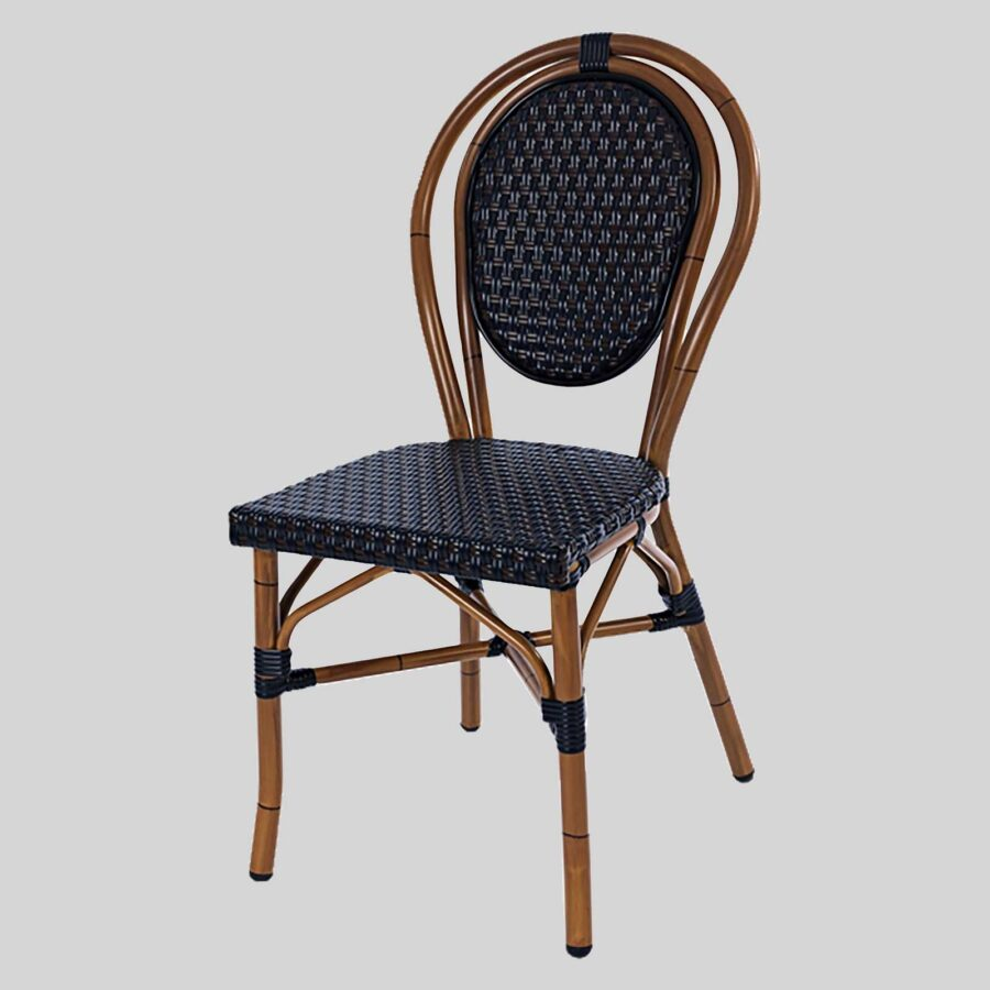 Palace French Cafe Chairs - Black/Brown