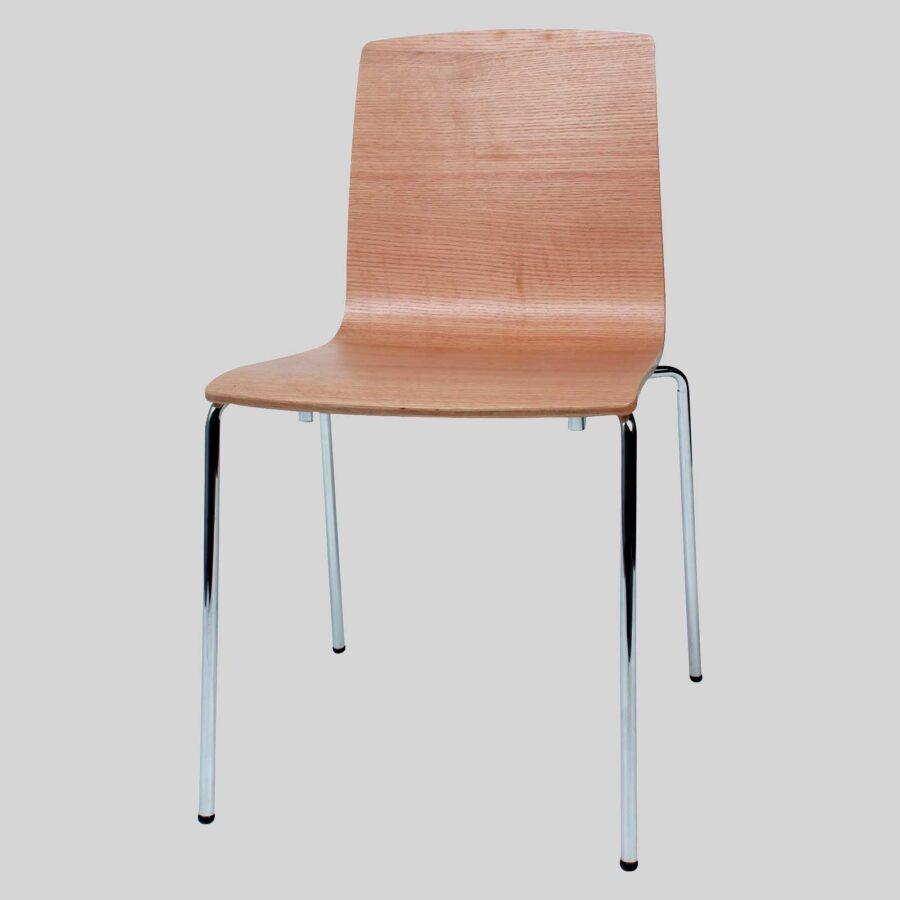 Palais Veneer Chair - Natural - Front