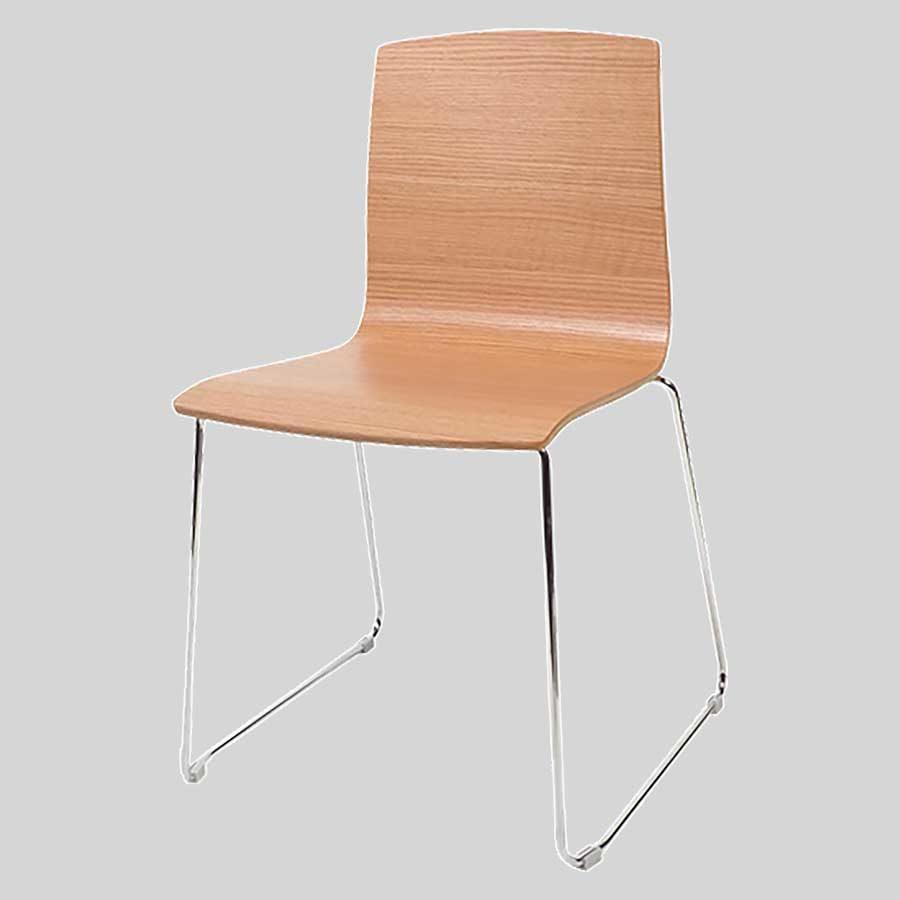 Palais plywood chairs - Black