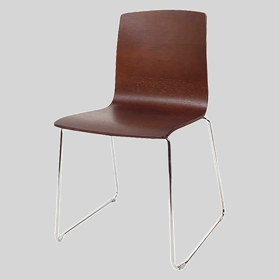 Palais plywood chairs - Walnut
