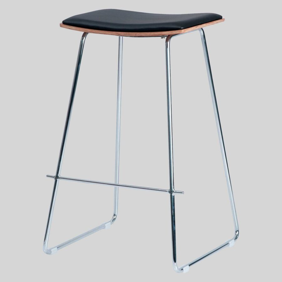 Pi Stool - Black, Chrome