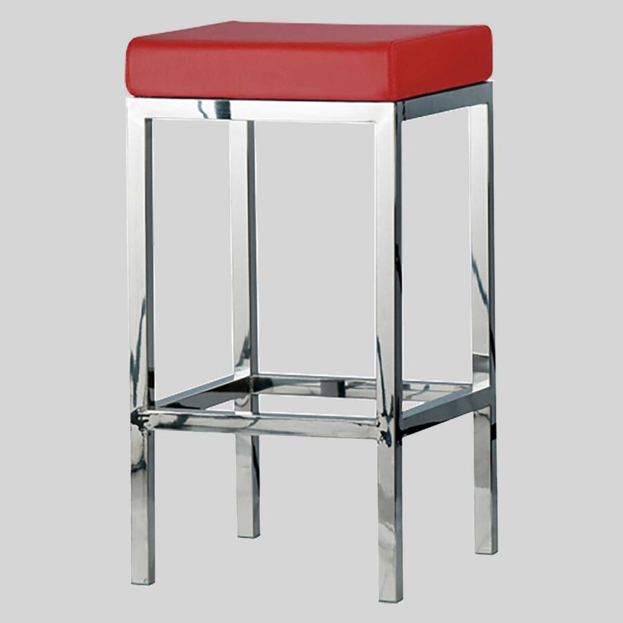 QuentinCounter Stool - Polioshed Frame, Red Seat
