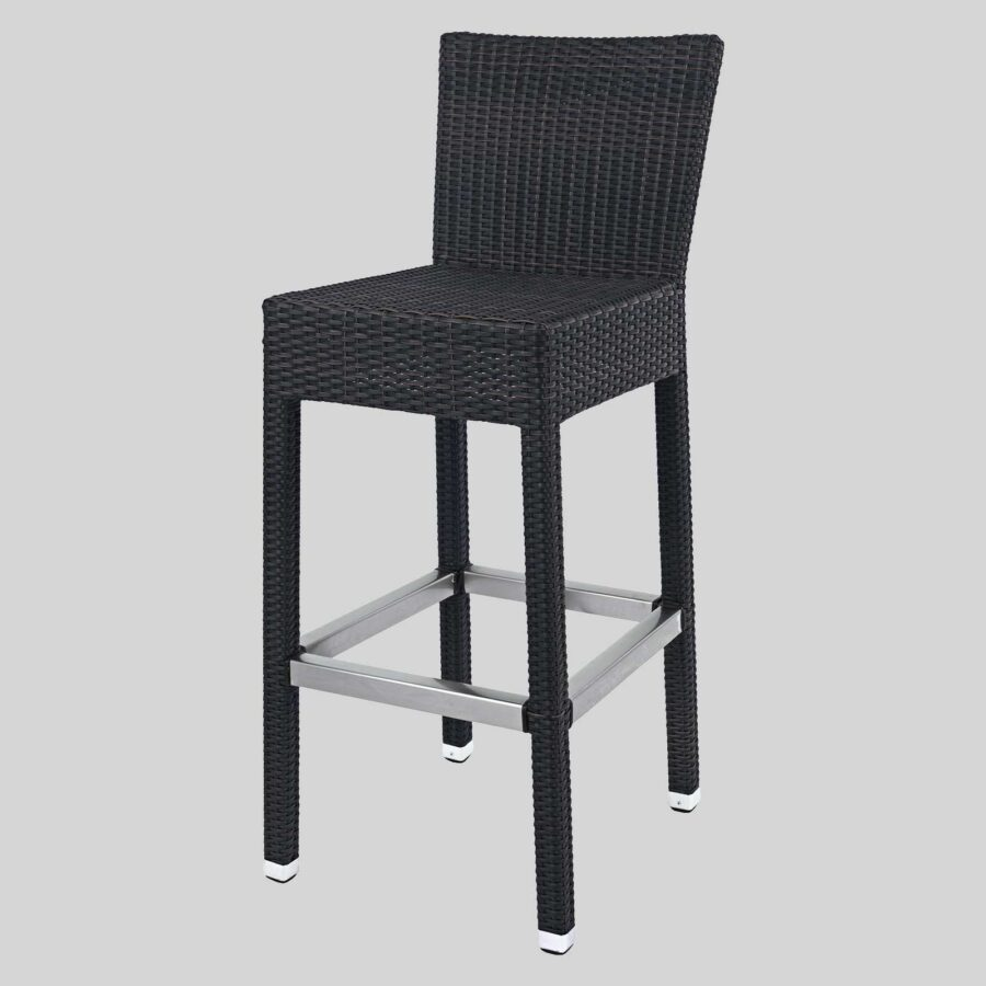 Resortica Wicker Barstool with Back