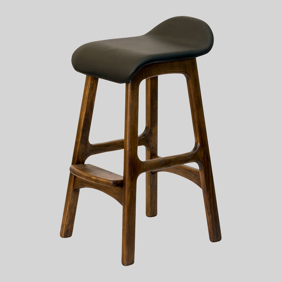 Rick Counter Stool - Walnut/Black