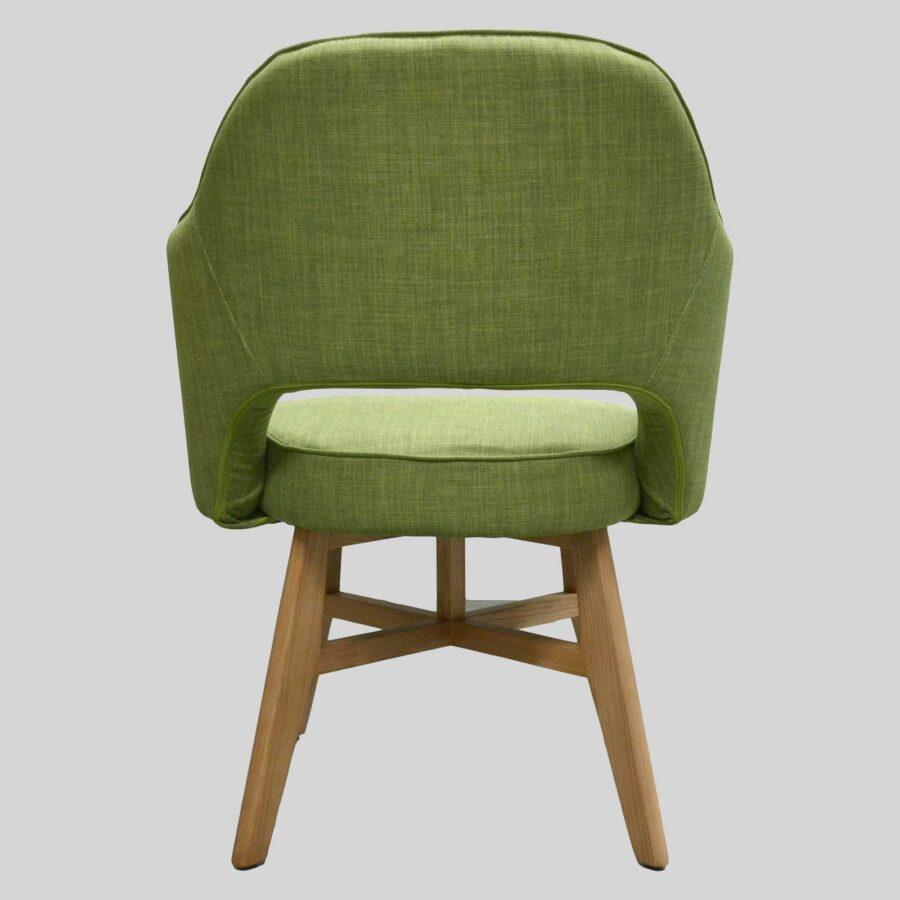 Royale Chair - Green, Natural Legs