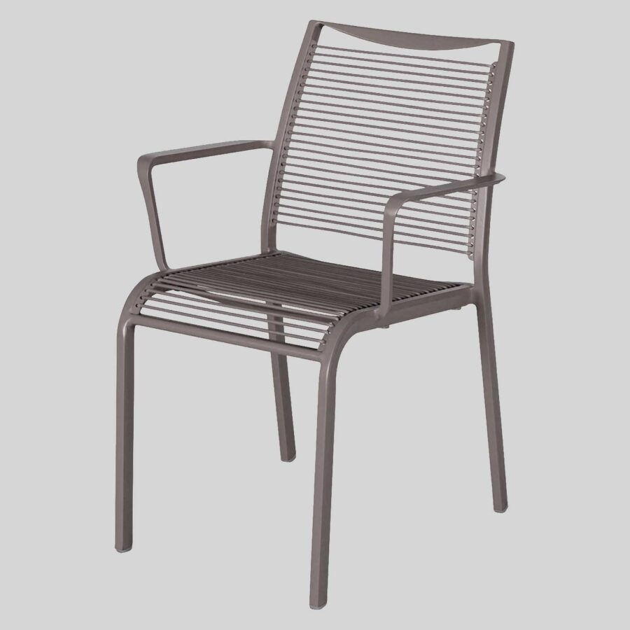 Waverly Outdoor Cafe Chairs with Arms - Grey