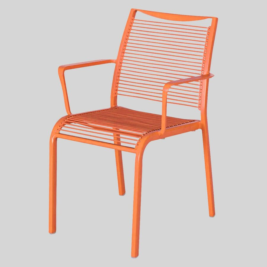 Waverly Outdoor Cafe Chairs with Arms - Orange
