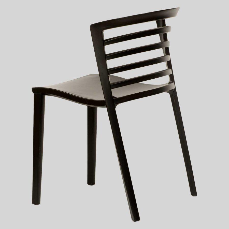 Brighton Outdoor Restaurant Chairs - Back - Black