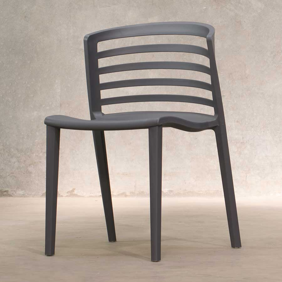 Brighton Outdoor Restaurant Chairs - Anthracite
