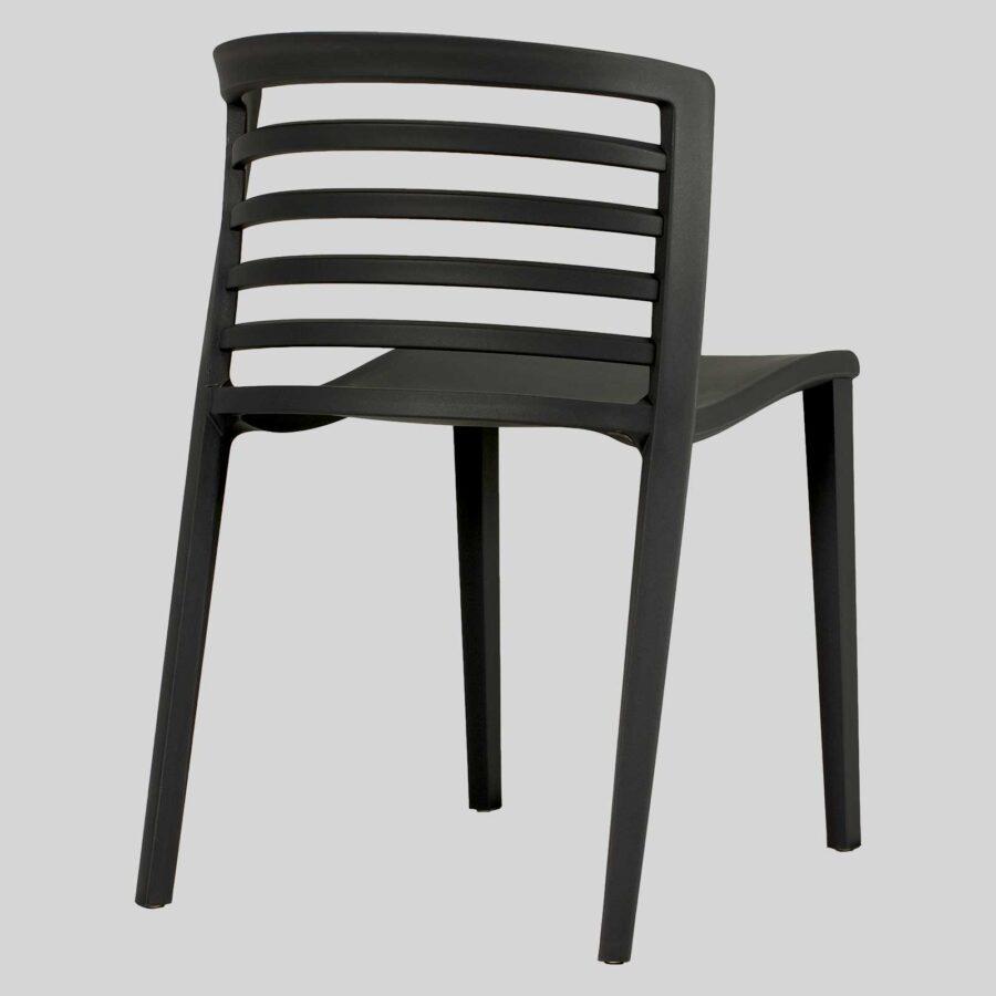 Brighton Outdoor Restaurant Chairs - Black
