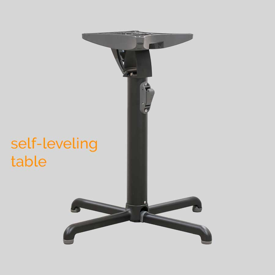 Gyro Swoose Self-Leveling Table Base - Dining: Black