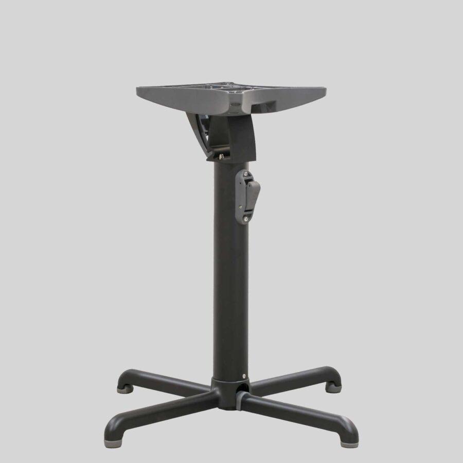 Gyro Swoose Self-Leveling Table Base - Dining: Black