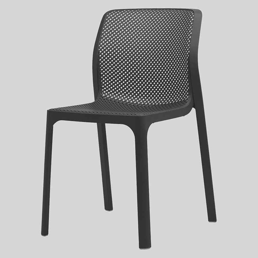 Mette Plastic Cafe Chairs - Anthracite