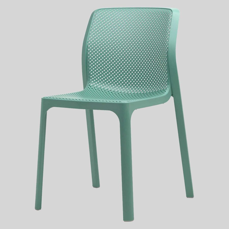 Mette Plastic Cafe Chairs - Green